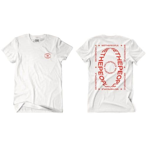 Wethepeople Saturn T-Shirt White Red Large